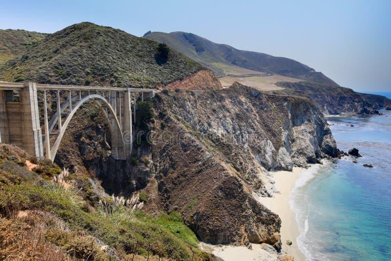 Ponte de Bixby, Big Sur, Califórnia, EUA imagem de stock