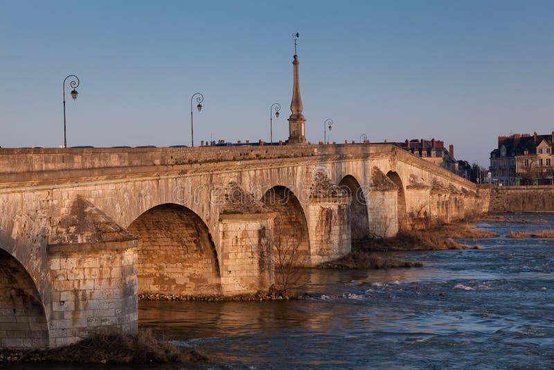 Ponte de Blois, de Loir e de cher fotos de stock