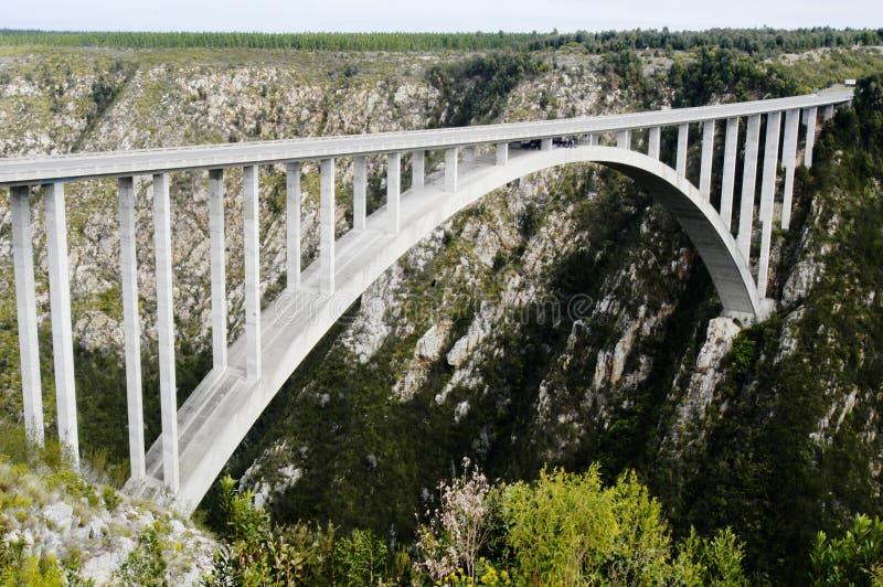 Ponte de Bloukrans, África do Sul imagens de stock