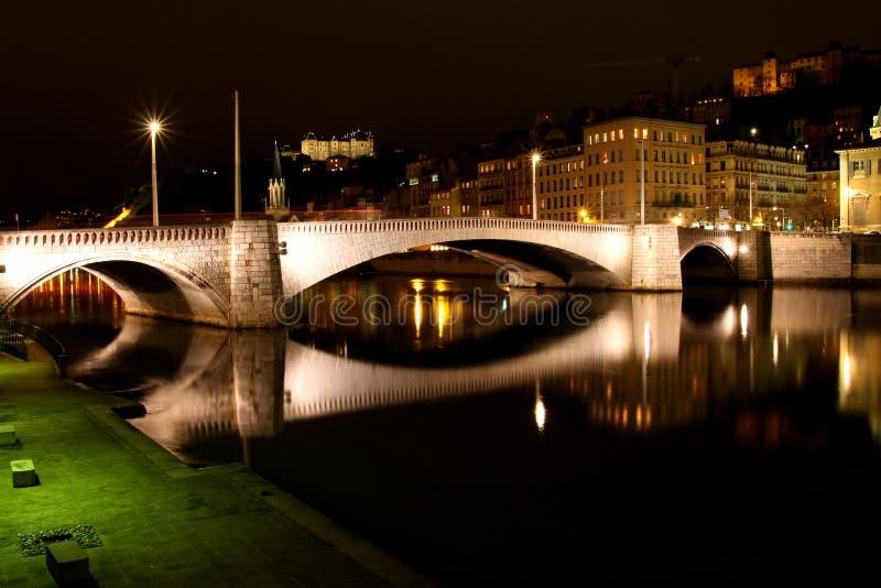 Ponte de Bonaparte - Lyon France fotos de stock royalty free