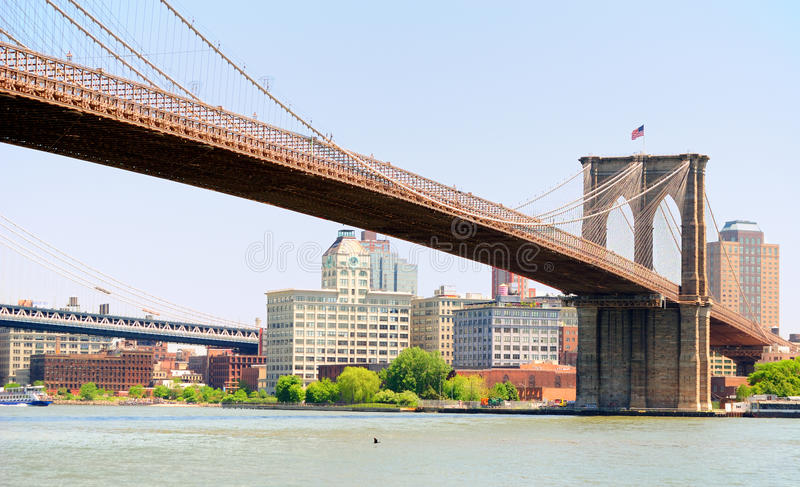 Ponte de Brooklyn fotografia de stock