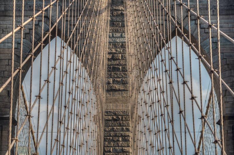 Ponte de Brooklyn - detalhes abstratos - New York City foto de stock