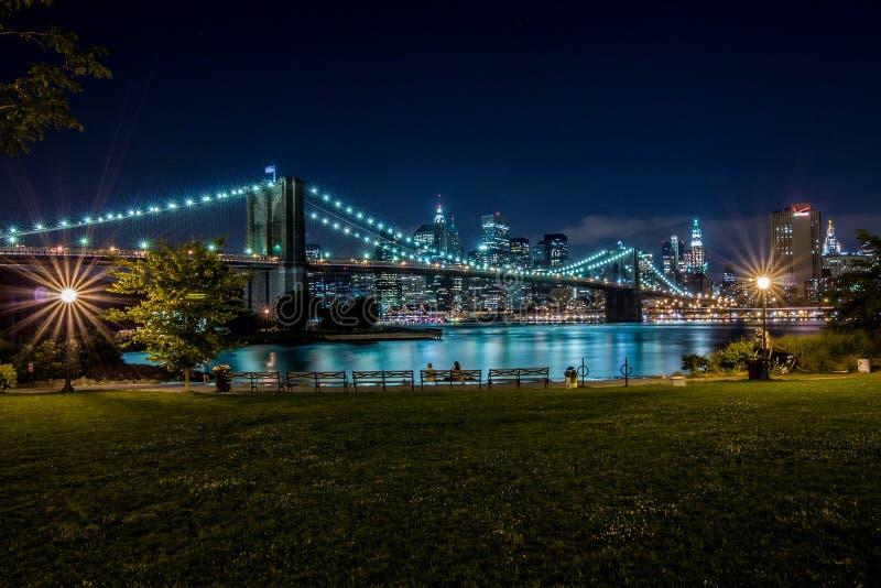 Ponte de Brooklyn e Manhattan, New York foto de stock