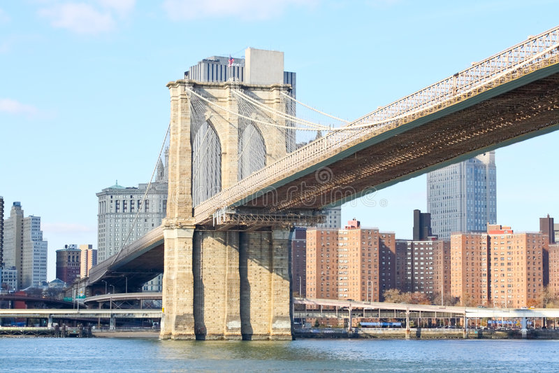 A ponte de Brooklyn em New York imagem de stock