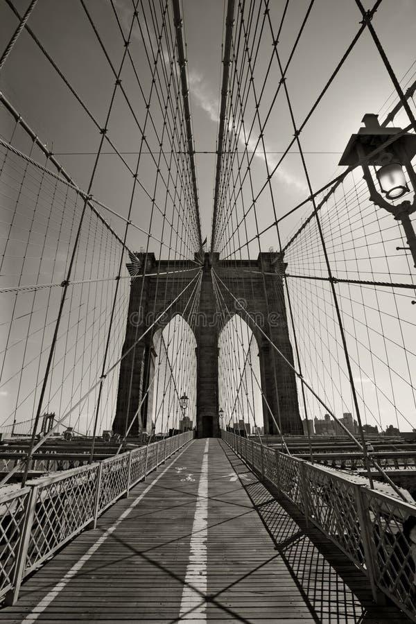 Ponte de Brooklyn em New York City fotos de stock