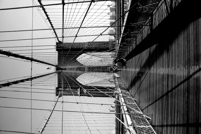Ponte de Brooklyn em NYC fotos de stock royalty free