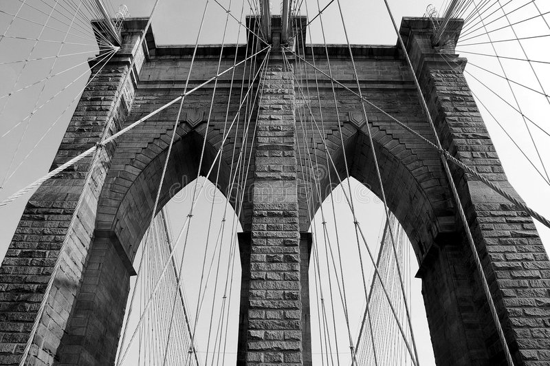 Ponte de Brooklyn em NYC foto de stock