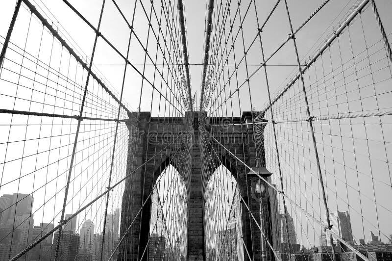 Ponte de Brooklyn em NYC imagem de stock