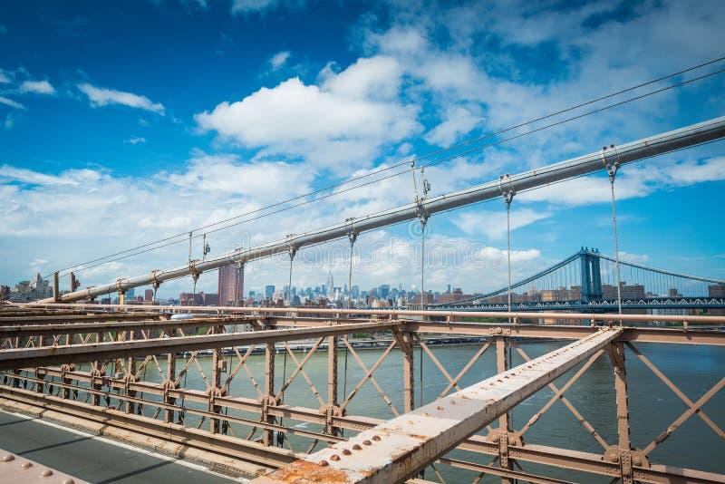 Ponte de Brooklyn em NYC foto de stock royalty free