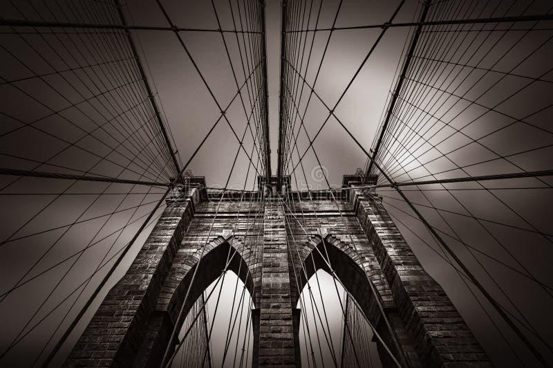 Ponte de Brooklyn em NYC, EUA imagens de stock