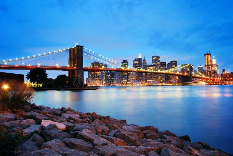 Ponte de Brooklyn, Manhattan, New York City fotografia de stock