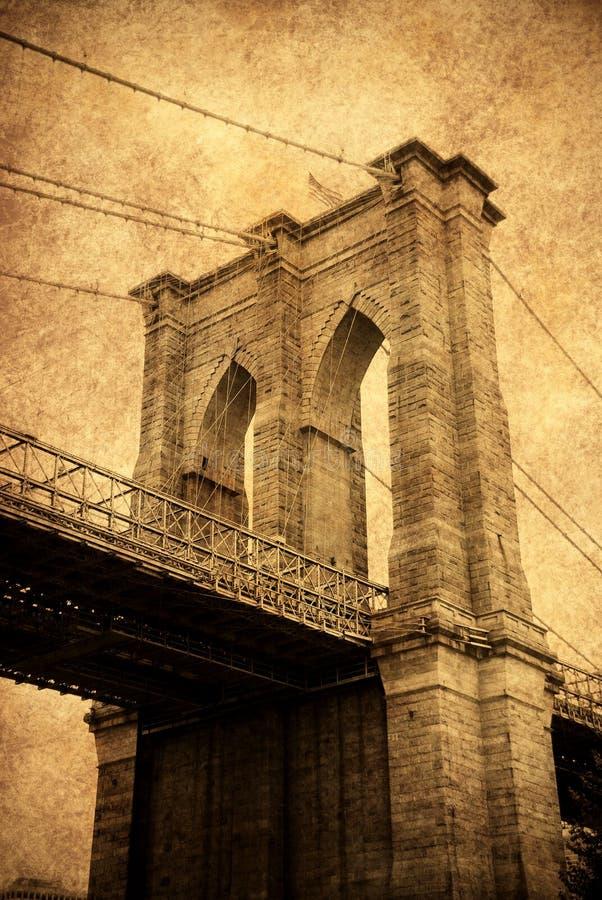 Ponte de Brooklyn, Manhattan, New York City fotografia de stock royalty free