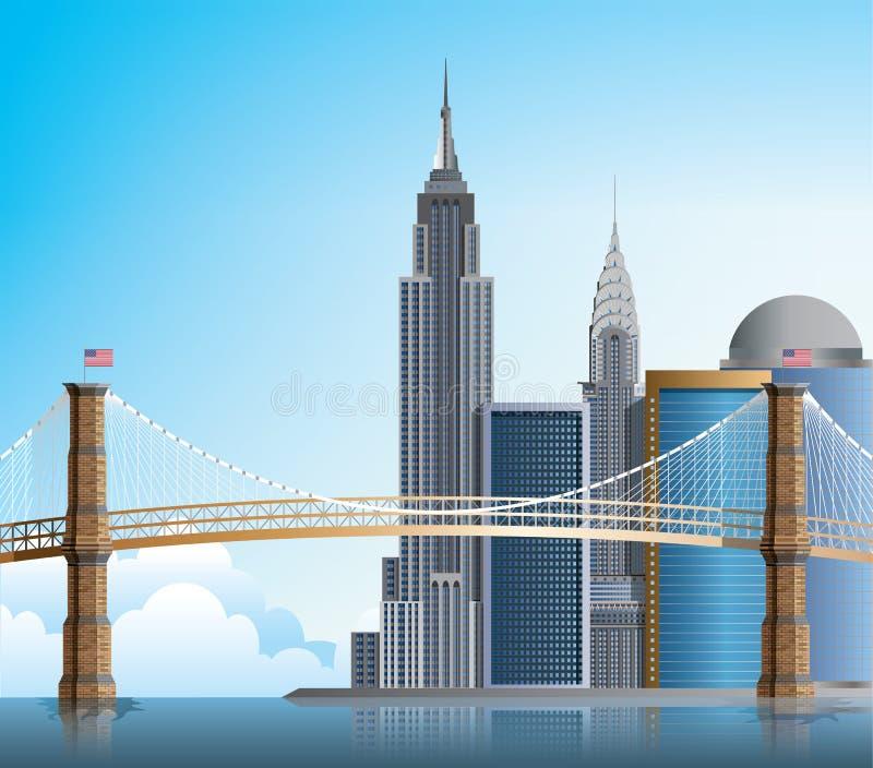 Ponte de Brooklyn New York ilustração royalty free
