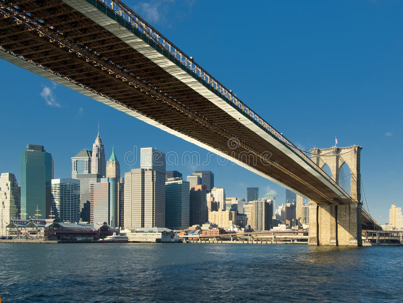 Ponte de Brooklyn, New York fotografia de stock royalty free