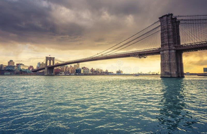 Ponte de Brooklyn New York foto de stock royalty free