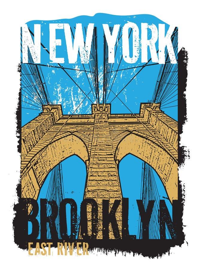 Ponte de Brooklyn, New York City ilustração royalty free