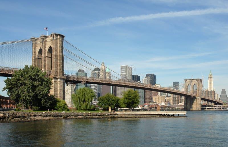 Ponte de Brooklyn, New York City, EUA imagens de stock