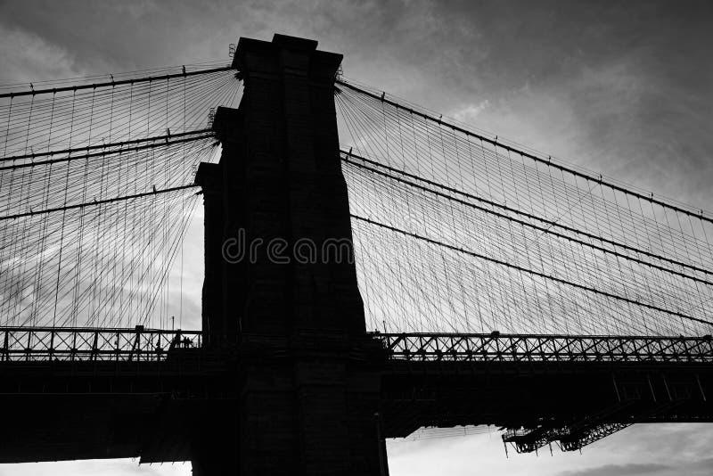 Ponte de Brooklyn no crepúsculo, New York imagem de stock royalty free