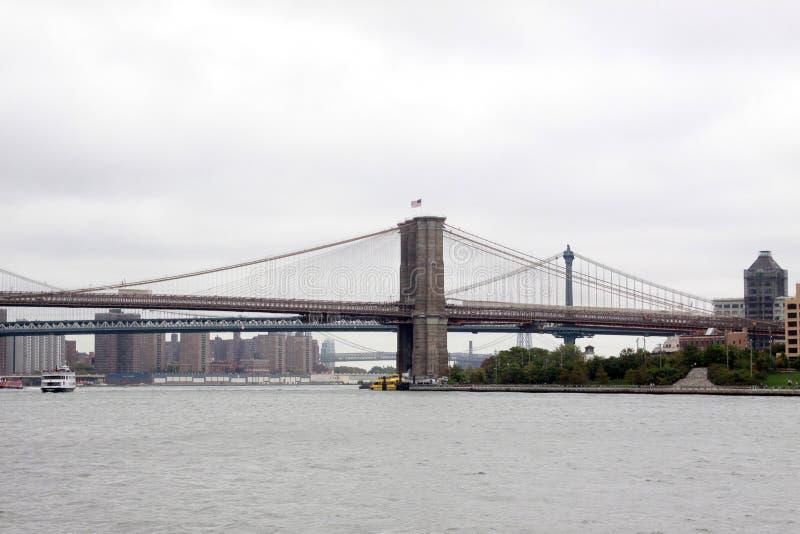 Ponte de Brooklyn, NYC foto de stock