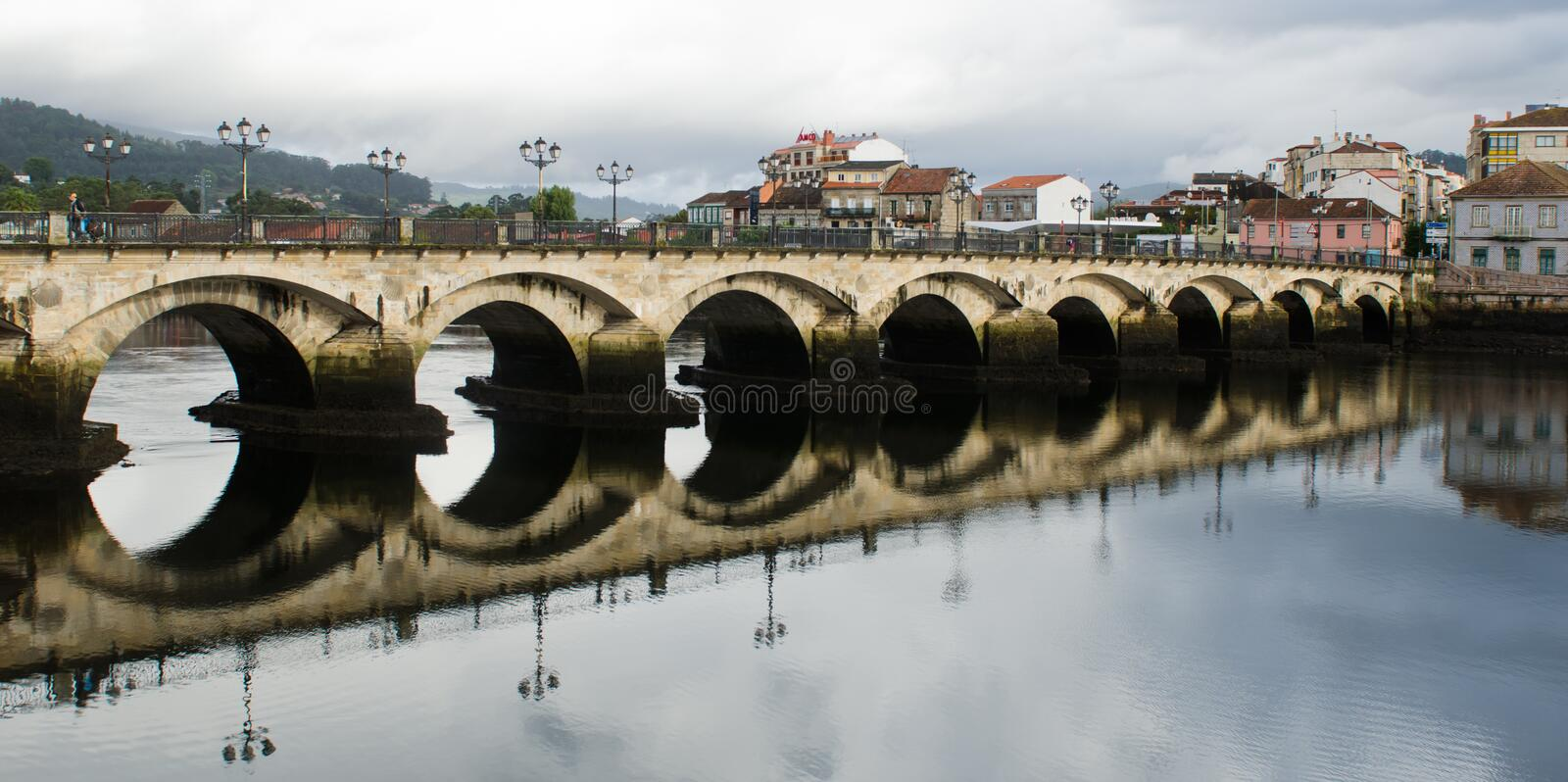 Ponte de Burgo bridge stock photography