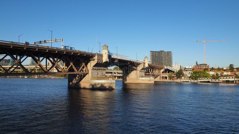 Ponte de Burnside, Portland, Oregon fotos de stock