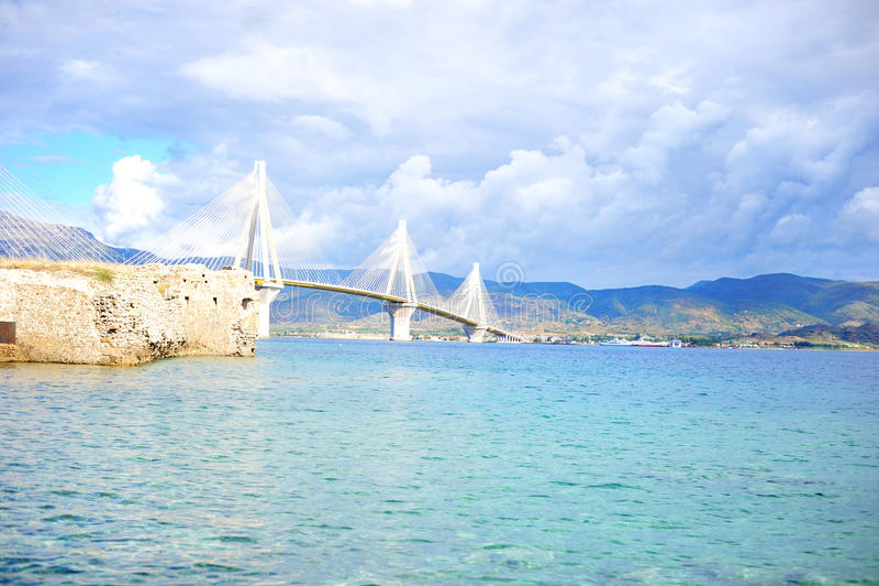 A ponte de cabo Patra, Grécia fotos de stock