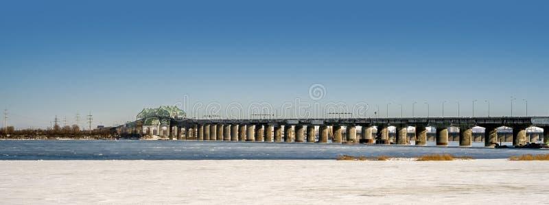 Ponte de Champlain, Montreal imagens de stock