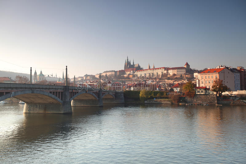 Ponte de Charles em Praga fotos de stock