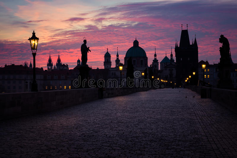 Ponte de Charles em Praga, república checa fotos de stock