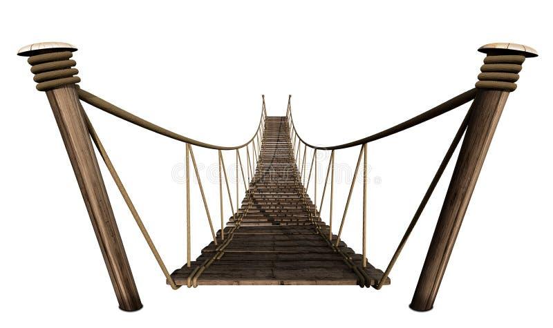 Ponte de corda ilustração stock