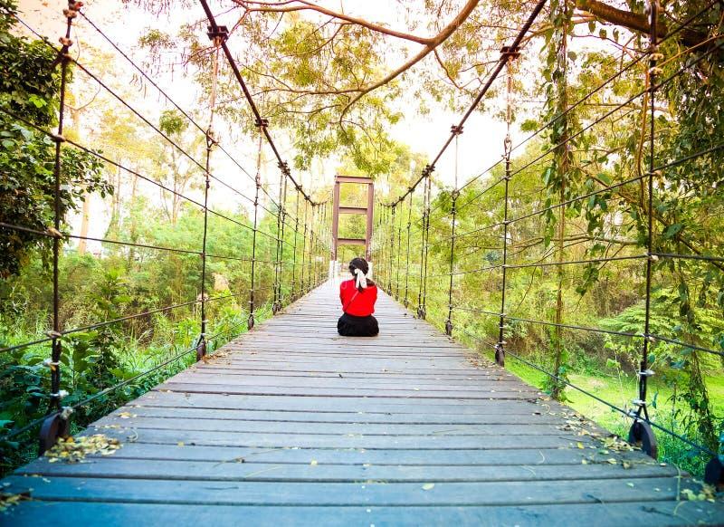 A ponte de corda tailândia fotos de stock royalty free