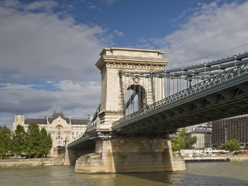 Ponte de correntes do Danúbio imagens de stock royalty free