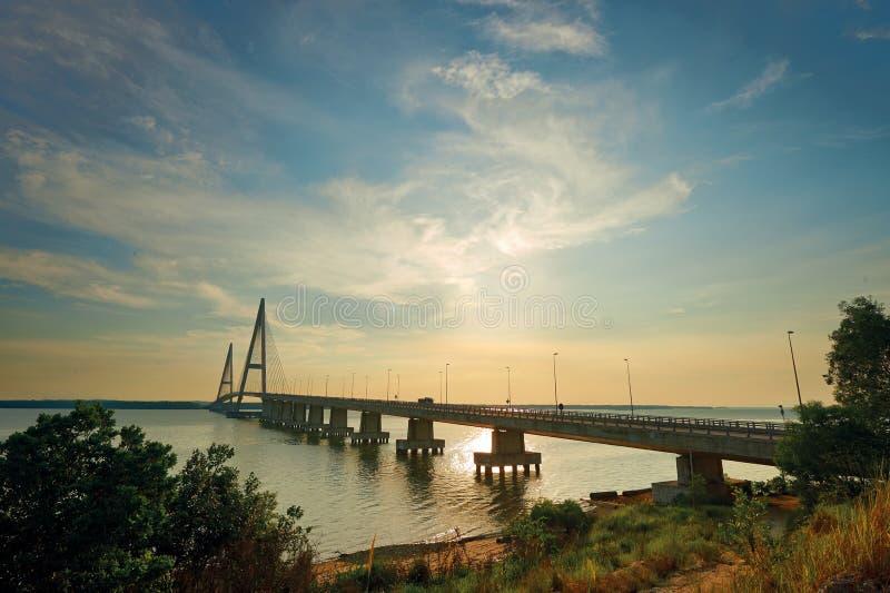Ponte de Desaru, Johor Bahru fotografia de stock royalty free