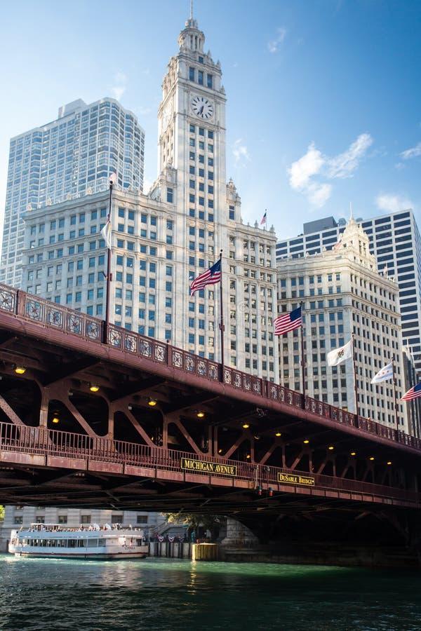Ponte de DuSable em Chicago imagens de stock