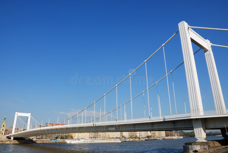 Ponte de Elizabeth imagem de stock royalty free