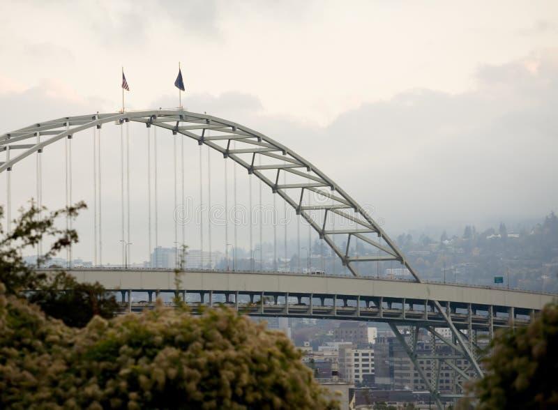 Ponte de Fremont, Portland, Oregon foto de stock royalty free
