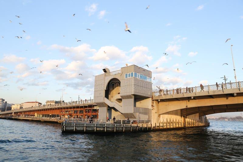 Ponte de Galata em Istambul fotografia de stock