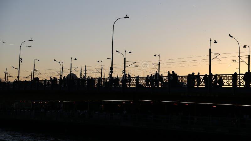 Ponte de Galata em Istambul, Turquia imagens de stock royalty free