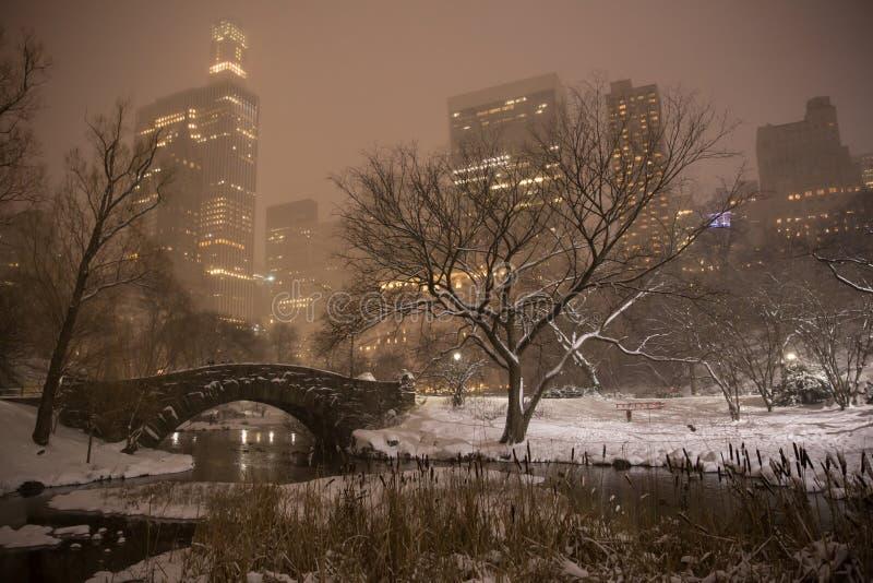 Ponte de Gapstow em Central Park imagens de stock