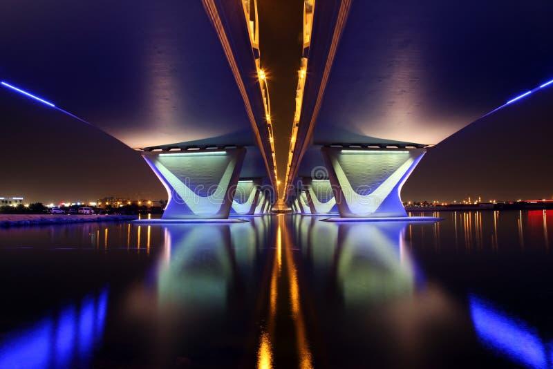 Ponte de Garhoud do Al em Dubai imagens de stock