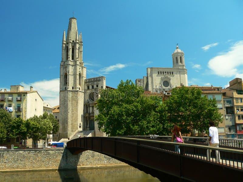 Ponte de Girona foto de stock