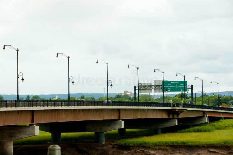 Ponte de Gunningsville - Moncton - Canadá fotos de stock royalty free