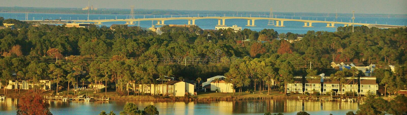 Ponte de Hathaway, Florida foto de stock