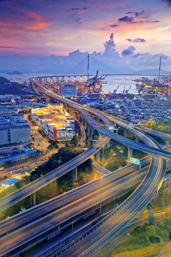 Ponte de Hong Kong Stonecutters ' imagens de stock