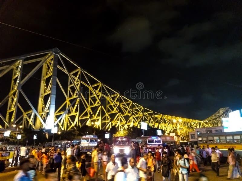 A ponte de Howrah foto de stock