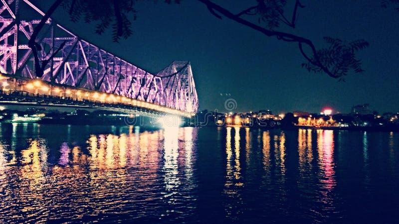 Ponte de Howrah fotografia de stock