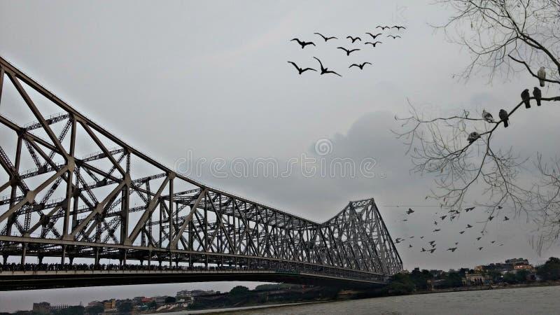 Ponte de Howrah fotografia de stock royalty free