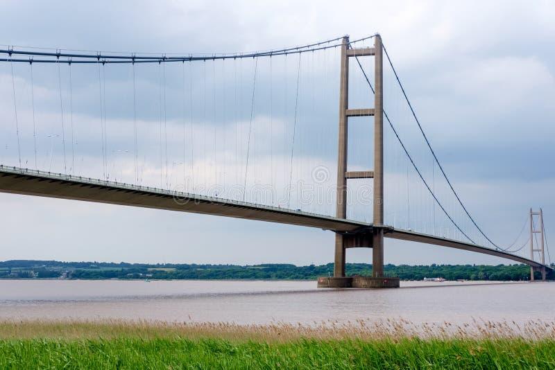 A ponte de Humber em Inglaterra, Reino Unido foto de stock