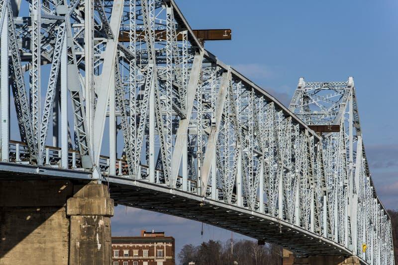 Ponte de Ironton-Russell fotografia de stock royalty free