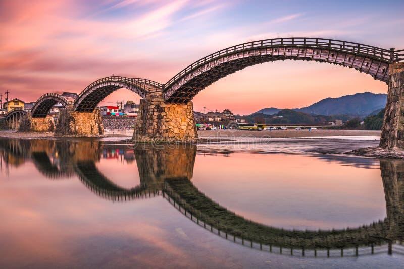 Ponte de Iwakuni, Japão fotos de stock